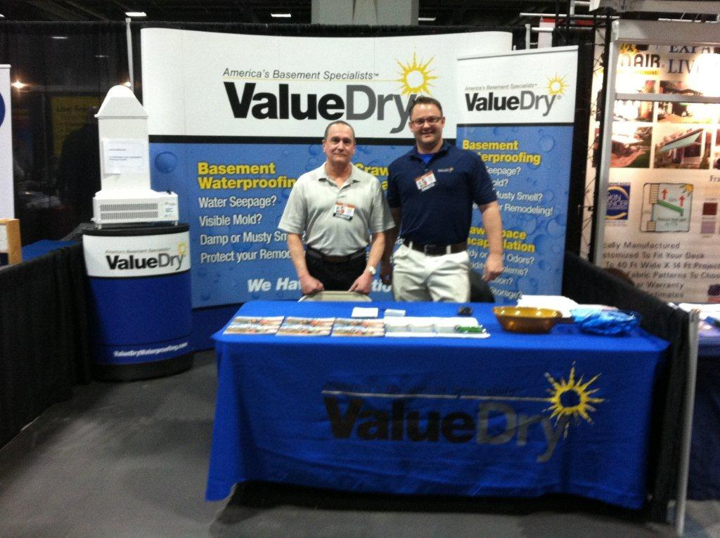 March 23, 2013 U2013 EZ Breathe Tech Consultant, Rick Capp With James Ketterer,  Owner Of Value Dry At A Recent Home Show In Washington D.C