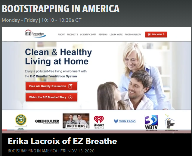 bootstrapping in america - ez breathe ventilation system